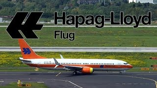 Boeing 737 TUIfly Retro-Livery Hapag-Lloyd   Takeoff at DUS Airport   D-ATUF   08.05.2015