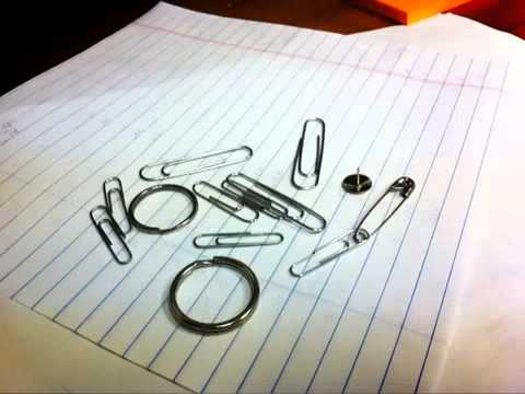 Paper clips, Keychains and Push pin