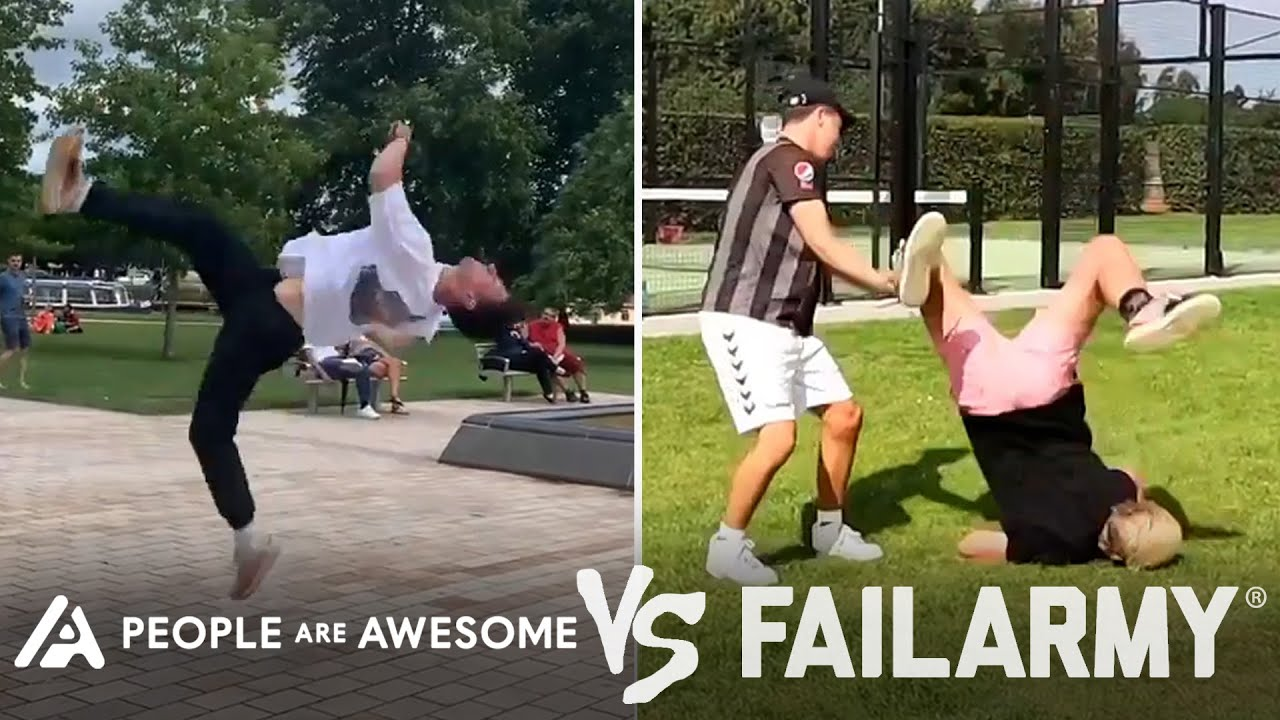Back Flip Wins Vs. Fails & More! | People Are Awesome Vs. FailArmy