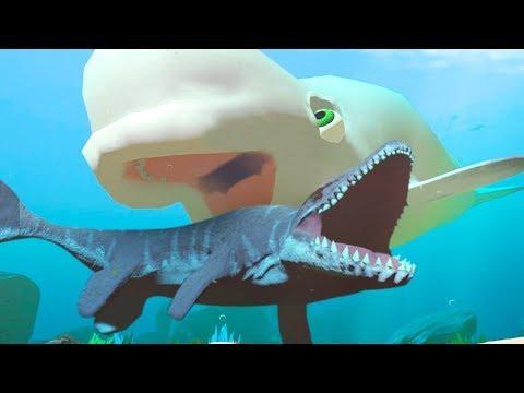 NEW BELUGA vs MOSASAURUS! - Feed and Grow Fish - Part 76 | Pungence