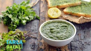 Pudina Chutney (Mint Chutney) / Green Chutney Recipe by Tarla Dalal