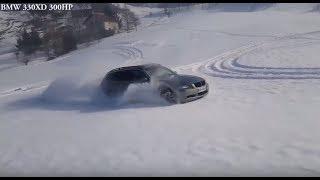 Audi Quattro vs BMW xDrive Comparison - Driving in snow 2019 ❄️