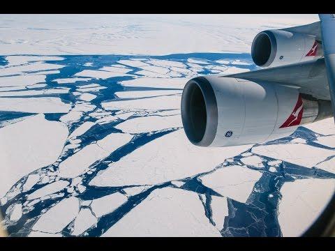 Flight over Antarctica