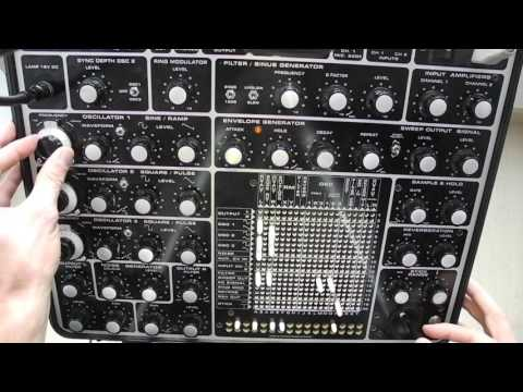 Hornet modular synth drone in stereo