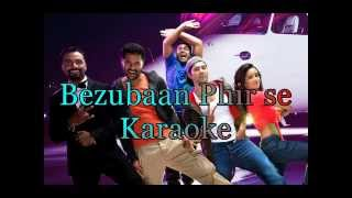Bezubaan Phir Se Karaoke | ABCD 2 | Dmusic Karaoke |