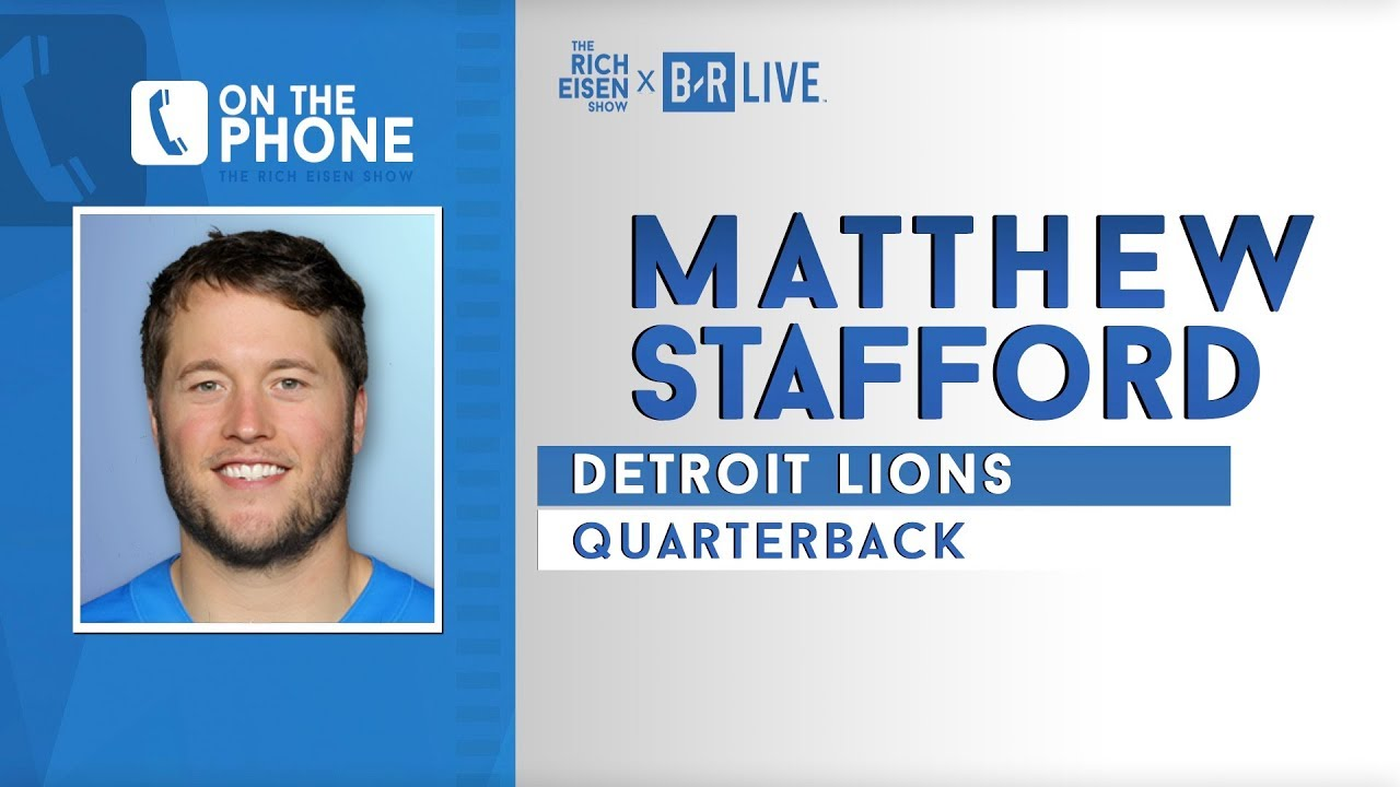 Matthew Stafford Talks Lions Outlook, Eli, Kershaw & More with Rich Eisen | Full Interview | 9/1