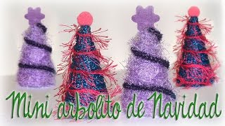 ARBOLITO HECHO CON ROLLITOS DE CARTÓN- LITTLE CHRISTMAS TREE