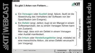 23: Softwaretechnik 1, Vorlesung, SS2016