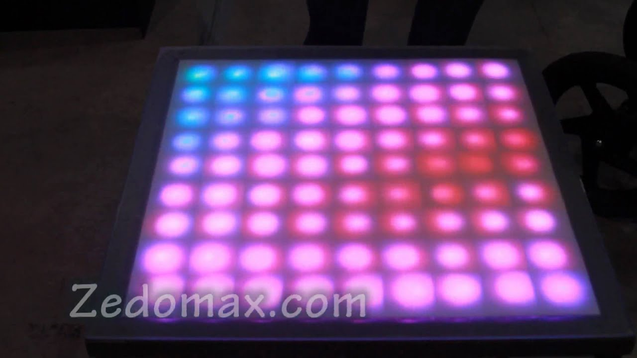 cool diy rgb color changing led coffee table youtube