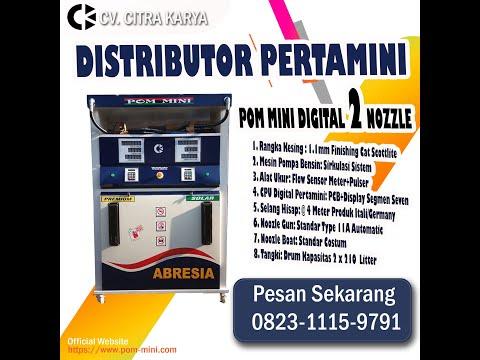 QC Perakitan Pom mini 2 nozzle Type Portable Standar