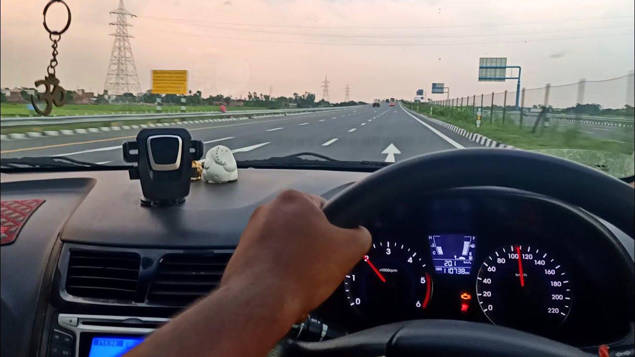 Lucknow Agra Expressway   आगरा लखनऊ एक्सप्रेसवे   Hyundai Verna Driving on  Lucknow Agra Expressway