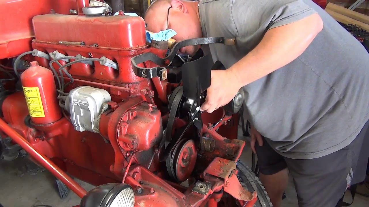 medium resolution of 1939 farmall a fan pulley assembly replacement install and cold start