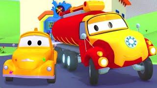 Тайсон Железный Человек - Малярная Мастерская Тома в Автомобильный Город 🎨 детский мультфильм