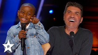 Kid Comedian Has Simon Cowell in Stitches on America's Got Talent 2021 | Got Talent Global