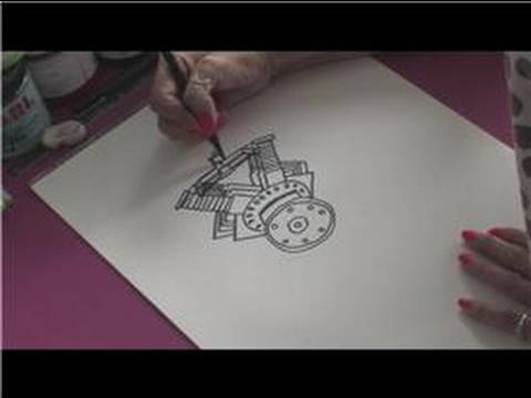 How to Draw Cars : How to Draw a Car Engine - YouTube