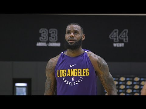 LeBron James' First Practice With The Lakers (VIDEO)