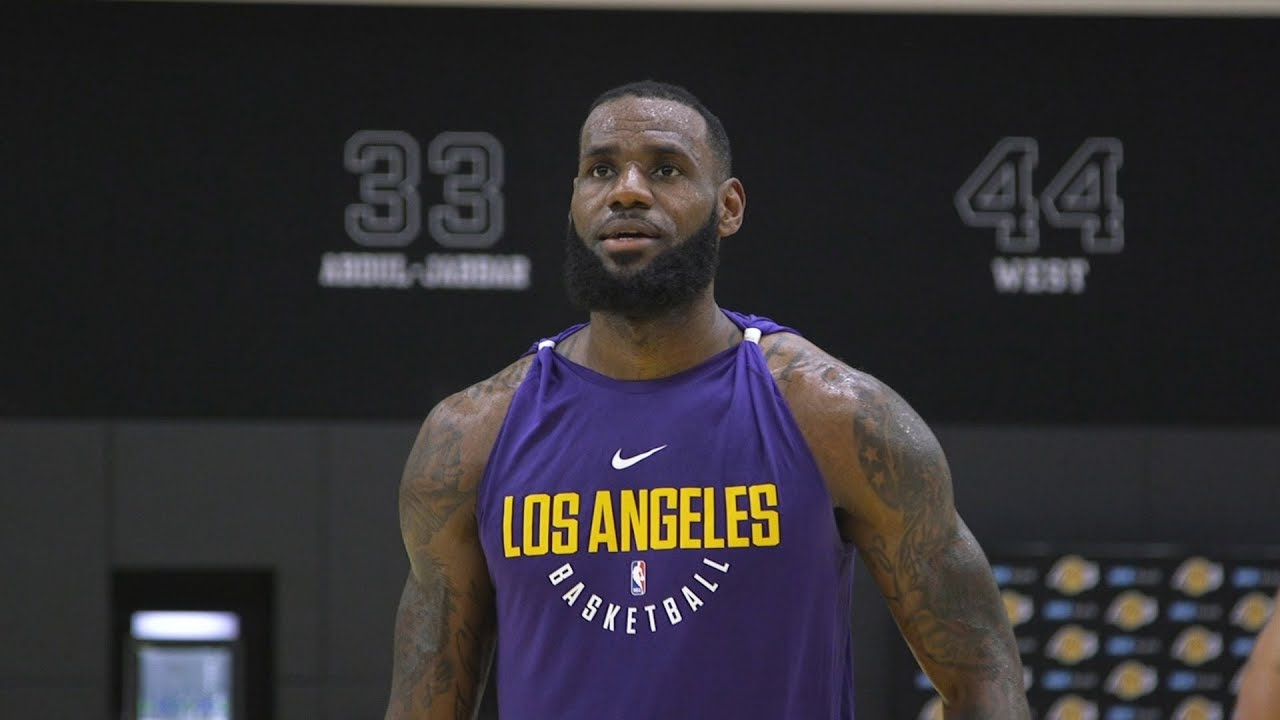 437d668c9 LeBron James  First Laker Workout. Los Angeles Lakers