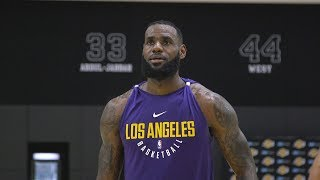 LeBron James' First Laker Workout