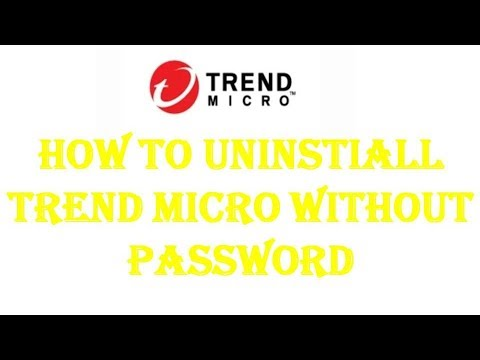 How To Uninstall Trend Micro Software Without Password.| Trend Micro Software Kaise Uninstall Kare.