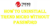 How to uninstall Trend Micro® Titanium Internet Security without