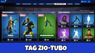 FORTNITE SHOP today July 14th new skin FRULLIO, PILASTRO and pickaxe ACCHIAPPAMOSCHE