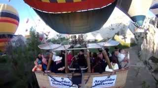 Sonnenaufgang im Ballon - Sunrise in balloon - Ballonfahrt in Kappadokien 2013 - Arabian Nights