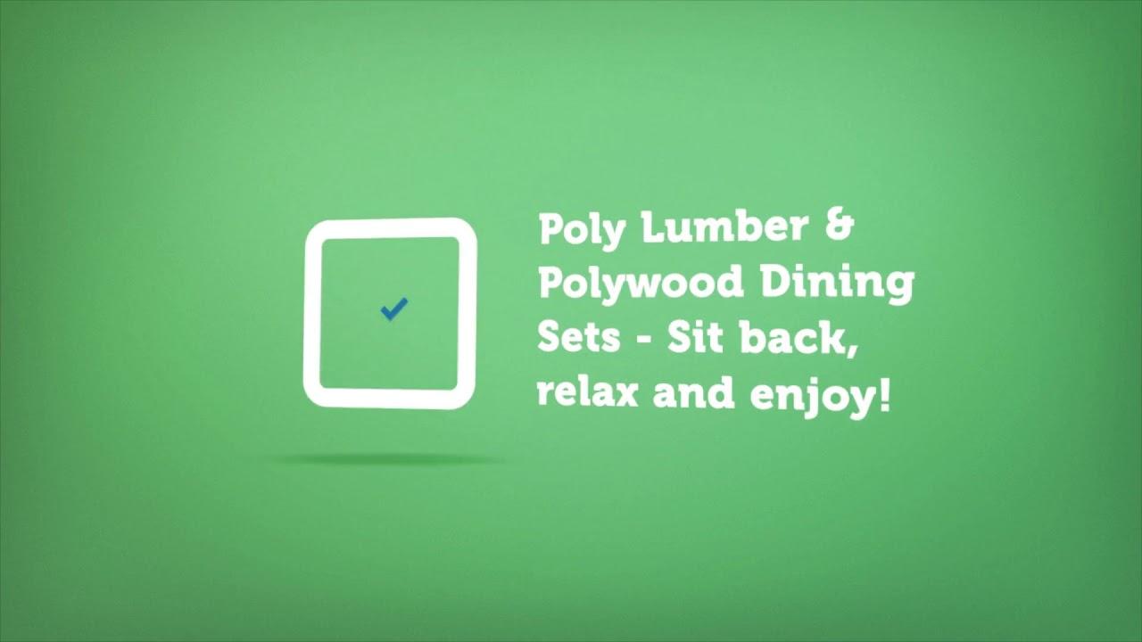 Polywood Dining Sets   Premium Poly Patios :  (877-904-1234)