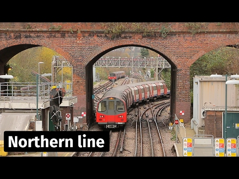 LU: Northern Line Trains At Finchley Central And Mill Hill East