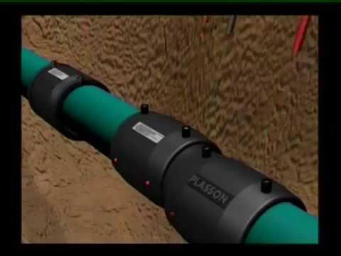 Монтаж ПНД труб для водопровода диаметром 110 мм и 160 мм