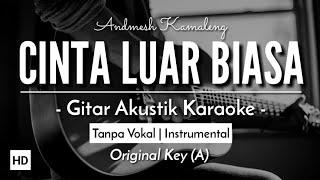 [Karaoke] Cinta Luar Biasa - Andmesh Kamaleng (Gitar Akustik) (Lirik)