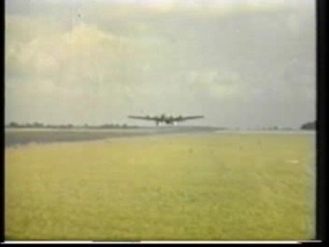 B17s TAKING OFF FROM PODINGTON AIR BASE  1944 WW 2.