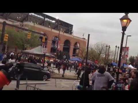 Baltimore Freddie Gray Rioting at Camden Yards 4/25/15
