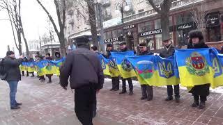 """Флешмоб """"Соборность"""" в Киеве"""