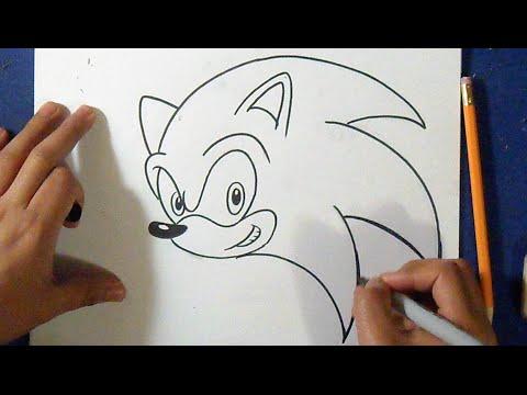 как рисовать Соник