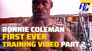 Ronnie Coleman First Ever Training Video Pt 2 - Rare Posing Footage Remastered in HD