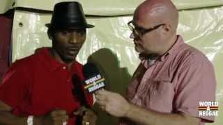 Interview Sanchez at Reggae Geel 2014