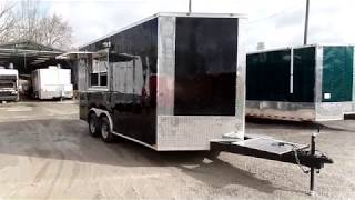 Black 8.5x16 Food Catering Event Concession Trailer