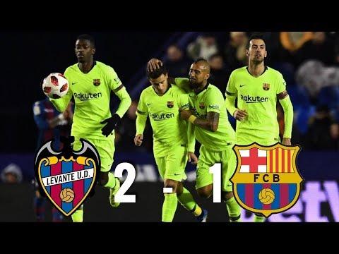 Levante vs Barcelona [2-1], Copa del Rey 2019, Round of 16 (1st Leg) - MATCH REVIEW