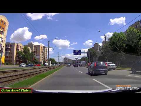 Driving in Arad: Calea Aurel Vlaicu - Calea Radnei. (Timelapse 2x)