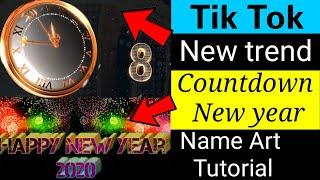 Tiktok new trend Happy New year special tutorial Happy New year 2020 countdown tutorial