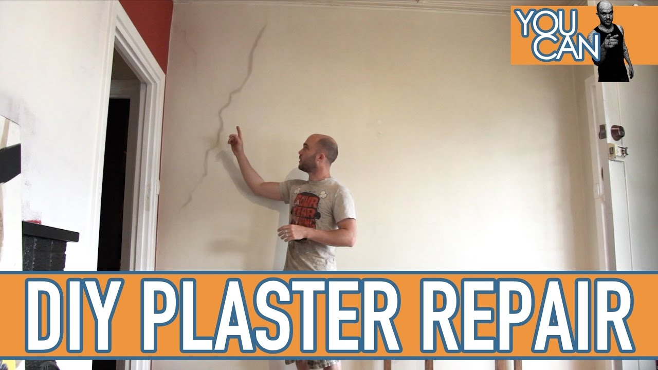 How To Repair Cracks In Plaster On A Brick Wall Youtube