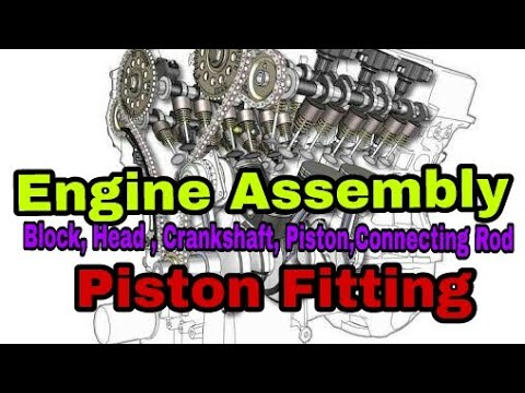 Engine Assembly Engine overhaul Piston fitting