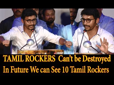 TAMIL ROCKERS Can't be Destroyed - RJ Balaji Comedy Speech | Ivan Thanthiran Audio Launch - BB