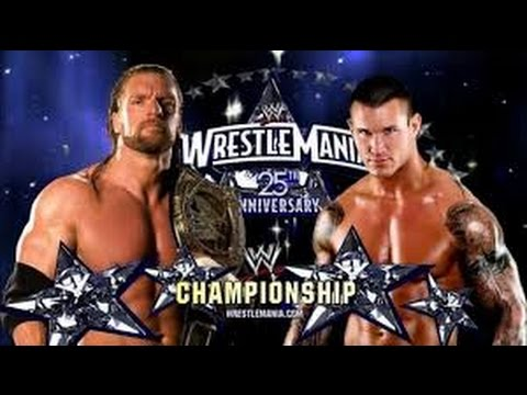Triple H vs Randy Orton l WrestleMania 25 l Combates WWE