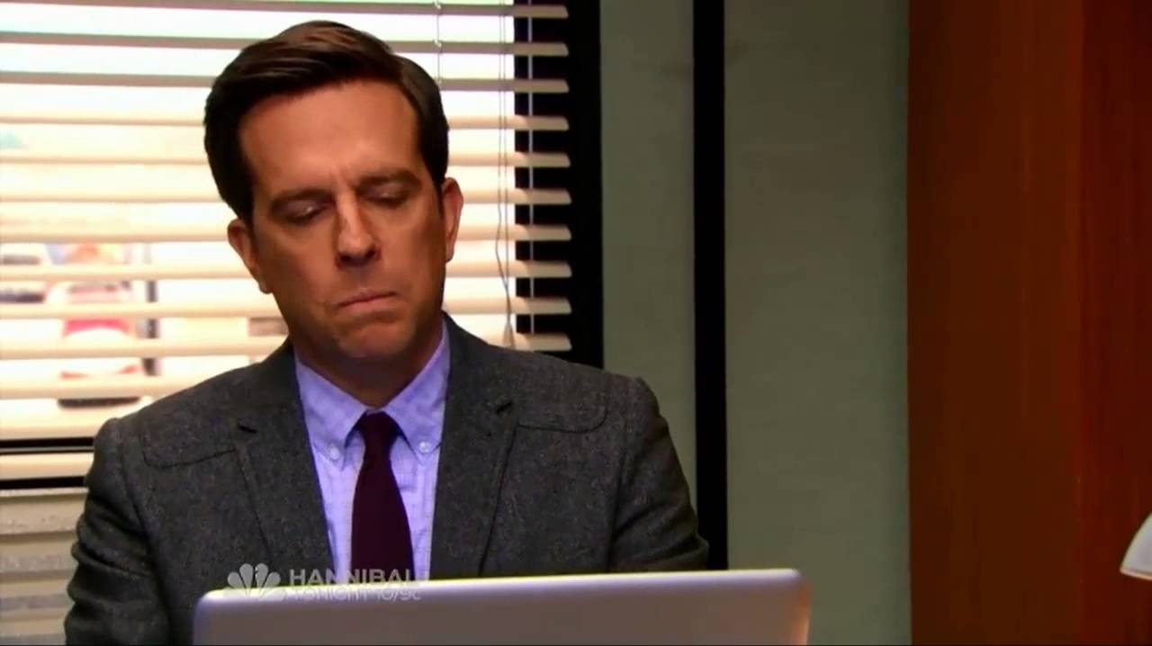 The office us andy 39 s reaction to youtube comments youtube - Watch the office us online ...