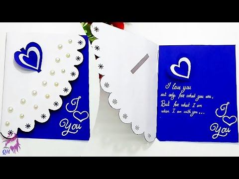 Beautiful Handmade love proposing card | Valentine card | Valentine gift | Queen's home