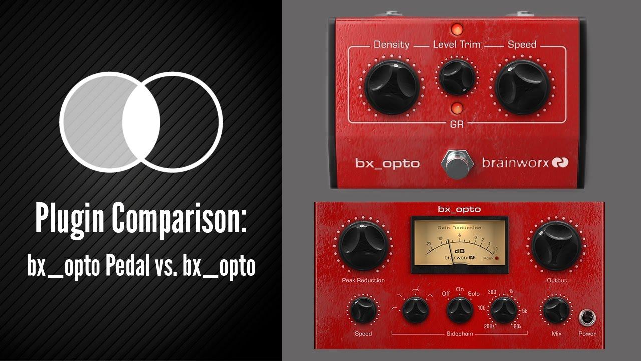 plugin comparison brainworx bx opto pedal vs bx opto youtube. Black Bedroom Furniture Sets. Home Design Ideas