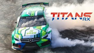 530HP 2.3L Ford EcoBoost-powered Titans RX Rallycross Car! - Anti-Lag Turbo Sound, Donuts, Jumps!