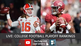 CFP Rankings LIVE – Top 25 Teams In Fourth College Football Playoff Rankings of 2018