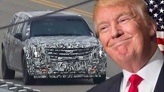 شاهد.. سيارة الرئيس الأمريكي دونالد ترامب المصفحة
